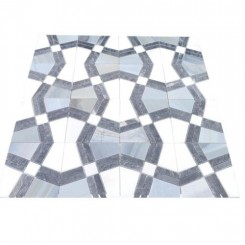 Kaleidoscope City Flat Marble Tile