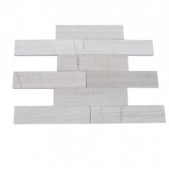 Brushed Stone Wooden Beige 2x8 Marble Tile