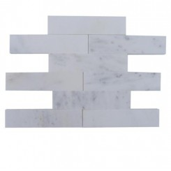Brushed Stone Asian Statuary 2x8 Marble Tile