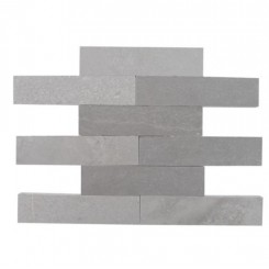 Brushed Stone Lady Gray 2x8 Marble Tile