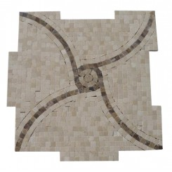 Windmill Crema Marfil and Emperidor Marble Tile