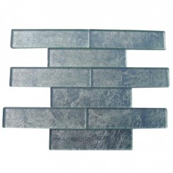 Metallic Stardust 2x8 Glass Tile