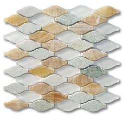 Iota Mossy Aura Glass and  Marble Tile