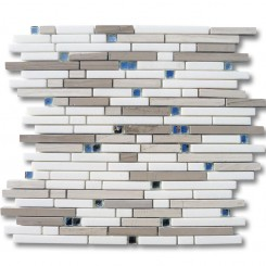 Enchanted Dutchess Marble &amp; Glass Tile