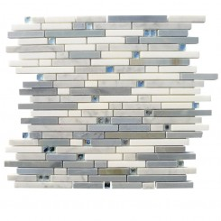 Enchanted Folk Stone Marble and Glass Tile 