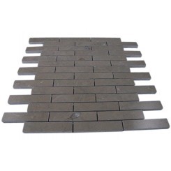 LAGOS GREY 3/4 X 4 BIG BRICK PATTERN MARBLE MOSAIC TILES_MAIN