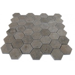 LAGOS GREY HEXAGON MARBLE MOSAICS_MAIN