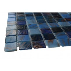 Sample-lake Blue Glass Tiles 1/4 Sheet Sample