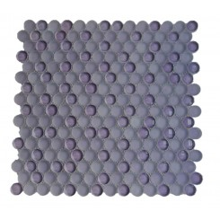 Loft Lilac Penny Round Glass Tiles
