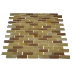 LOFT BURNT SUGAR 1/2 X 2&quot; MARBLE &amp; GLASS TILE&quot;_MAIN
