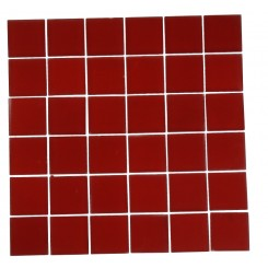 LOFT CHERRY RED FROSTED 2 X 2&quot; GLASS TILES&quot;_MAIN