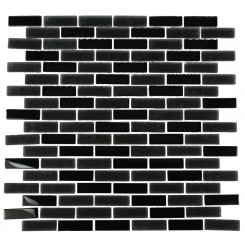 LOFT CLASSIC BLACK 1/2X2 BRICK PATTERN_MAIN