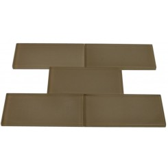 LOFT KHAKI FROSTED 3 X 6&quot; GLASS TILES&quot;_MAIN