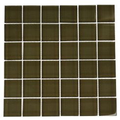 LOFT KHAKI POLISHED 2 X 2&quot; GLASS TILES&quot;_MAIN