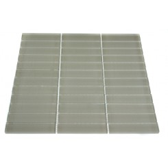 LOFT NATURAL WHITE POLISHED 1 X 4&quot; GLASS TILES&quot;_MAIN