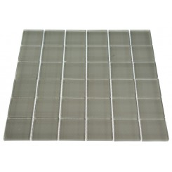 LOFT NATURAL WHITE POLISHED 2 X 2&quot; GLASS TILES&quot;_MAIN