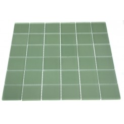 LOFT SPA GREEN POLISHED 2X2 GLASS TILE