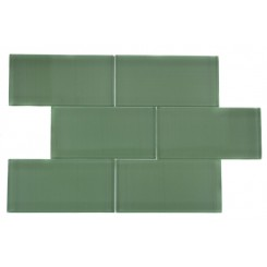 LOFT SPA GREEN POLISHED 3x6 GLASS TILE_MAIN
