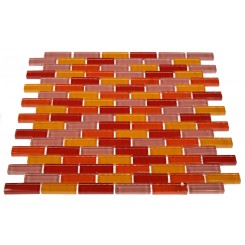 LOFT SUSHI 1/2 X 2&quot; POLISHED GLASS TILES IN BRICK PATTERN&quot;_MAIN