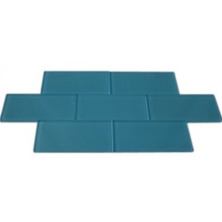 LOFT TURQUOISE POLISHED 3 X 6&quot; GLASS TILES&quot;_MAIN