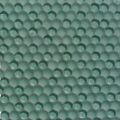 Loft Tea Green Penny Round Glass Tiles
