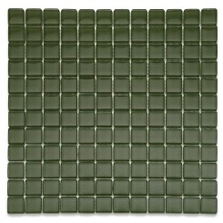 Loft Army 1 x 1 Glass Tiles