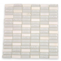 Loft Condensation Blend 1/2x2 Glass Tile