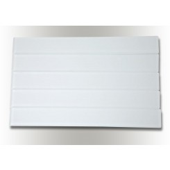 Loft Horizon Super White Frosted 2x16 Glass Tile