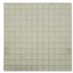 Loft Ice White Frosted 1 x 1 Tumbled Edge Glass Tiles