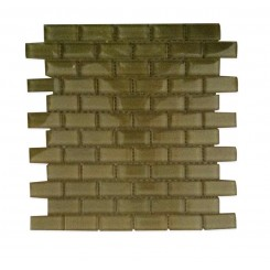 Loft Split Pea 1 x 2 Glass Tiles