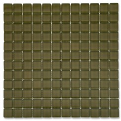 Loft Split Pea 1 x 1 Glass Tiles