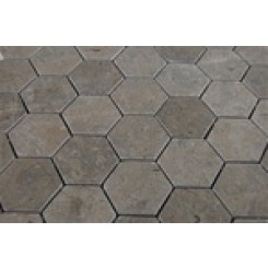 sample-LAGOS GREY HEXAGON 1/4 SHEET TILE SAMPLE_1