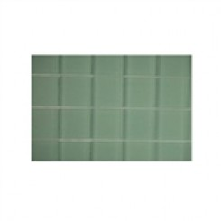 sample-LOFT SPA GREEN 2X2 FROSTED 1/4 SHEET GLASS TILE SAMPLE_1