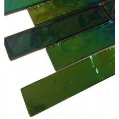 Sample-Iridescent Mardi Gras Bricks Glass Tiles Sample