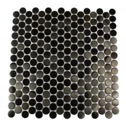 METAL BLACK STAINLESS STEEL 3/5 PENNY ROUND TILES_MAIN