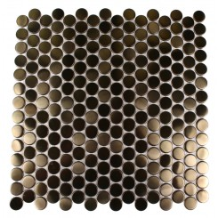 Metal Copper Stainless Steel 3/4 Penny Round Tiles
