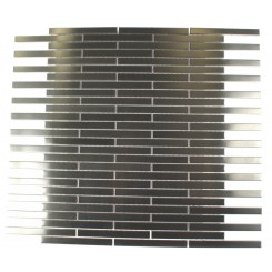 METAL SILVER STAINLESS STEEL 3/8X4 STICK BRICK TILES_MAIN