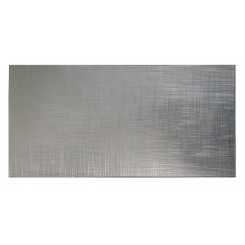Metallic Aluminum 12x24 Glass Tile