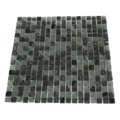 MISTED GREEN BLEND SQUARES 1/2X1/2 MARBLE & GLASS TILE SQUARES_MAIN