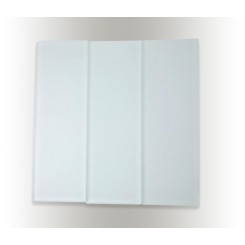 "Loft Natural White Frosted 4"" X 12"" Glass Tiles"