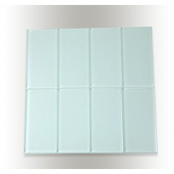 Loft Natural White Polished 3&quot; X 6&quot; Glass Tiles
