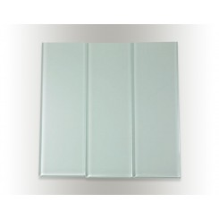 "Loft Natural White Polished 4"" X 12"" Glass Tiles"