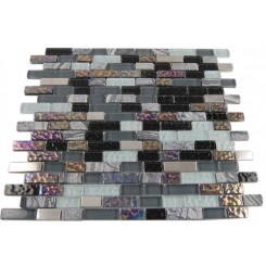 NIMBUS GRAY BLEND BRICKS 1/2X2 MARBLE &amp; GLASS TILE BRICKS_MAIN