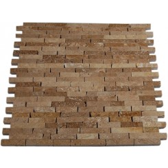 NOCHE TRAVERTINE 1/2 X 2&quot; TILES CRACKED JOINT CLASSIC BRICK LAYOUT&quot;_MAIN