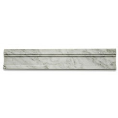 Novel White Carrera Chair Rail Marble Tile Liner