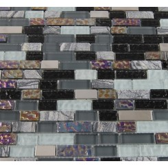 sample-NIMBUS GRAY BLEND BRICKS 1/2X2 1/4 SHEET  TILES SAMPLE BRICKS_MAIN