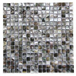 Deep Sea Black Pearl Square Pattern Tile