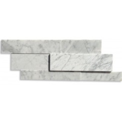 Zenith White Carrea 3D Honed Marble Tile