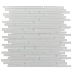 Torpedo Pattern 1/4 X Random Super White Glass Mosaic Tiles