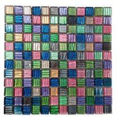 Rainbow Delight Glass Tiles